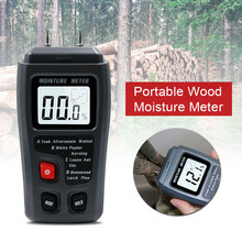 Humidity Measuring Instrument Moisture Tester Moisture Meter Tool ABS Grey Floor Instrumentation Carton Wood LCD Hardness tk100w wood sawdust powder meter hay bale bamboo powder moisture fiber tester bv196 sd