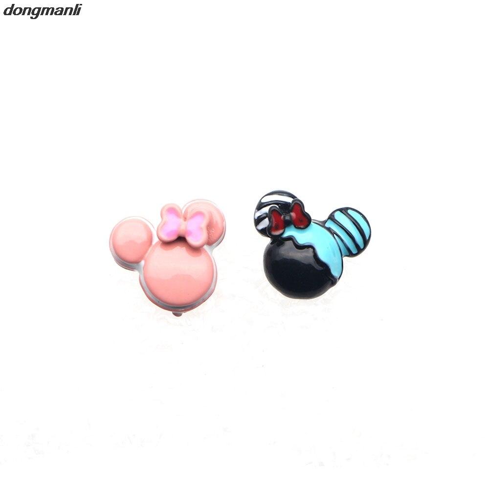WS942 Lovely Cartoon Animal mouse Head Stud Earrings With Cute Bowknot Women Girls Kids Gift Fashion Ear Jewelry
