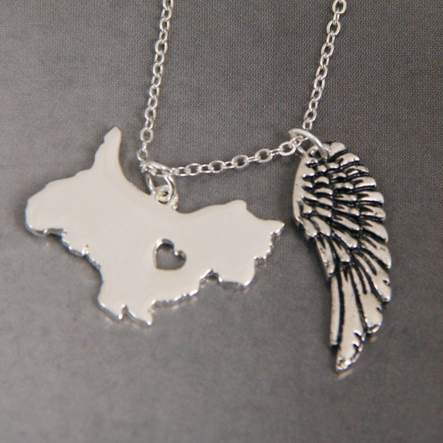 1pcs cute westie my angel with wings dog lover necklace pendants 1pcs cute westie my angel with wings dog lover necklace pendants charms gift jewelry necklace women aloadofball Image collections