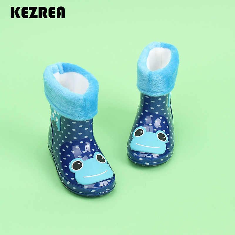 Kezrea/детские ботинки; сезон весна-осень-зима; непромокаемые сапоги для маленьких мальчиков и девочек; Rhino; яркие цвета; лягушка; Кот; Кролик; непромокаемая обувь