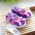 Новый 2013 весна осень впервые ходунки мягкая подошва детская обувь скольжению обувь для девочек принцесса бантом дети обувь