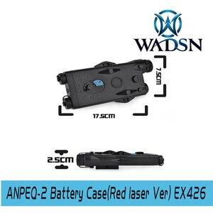 Image 2 - WADSN Airsoft PEQ2 Tactical AN/PEQ 2 caja de batería láser rojo PARA RIELES DE 20mm, sin función, funda de batería Softair PEQ WEX426