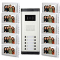 10 Unit Apartment Video door phone Intercom Entry System 7 inch TFT Monitor 10 Keys Call Camera Station