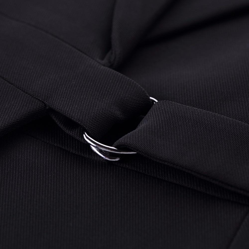 New 2018 2 Piece Set Elegant Pant Suit Size S-4XL Waistcoat Belt Gray Vest Women Sleeveless Jacket Blazer Office Lady Work Wear
