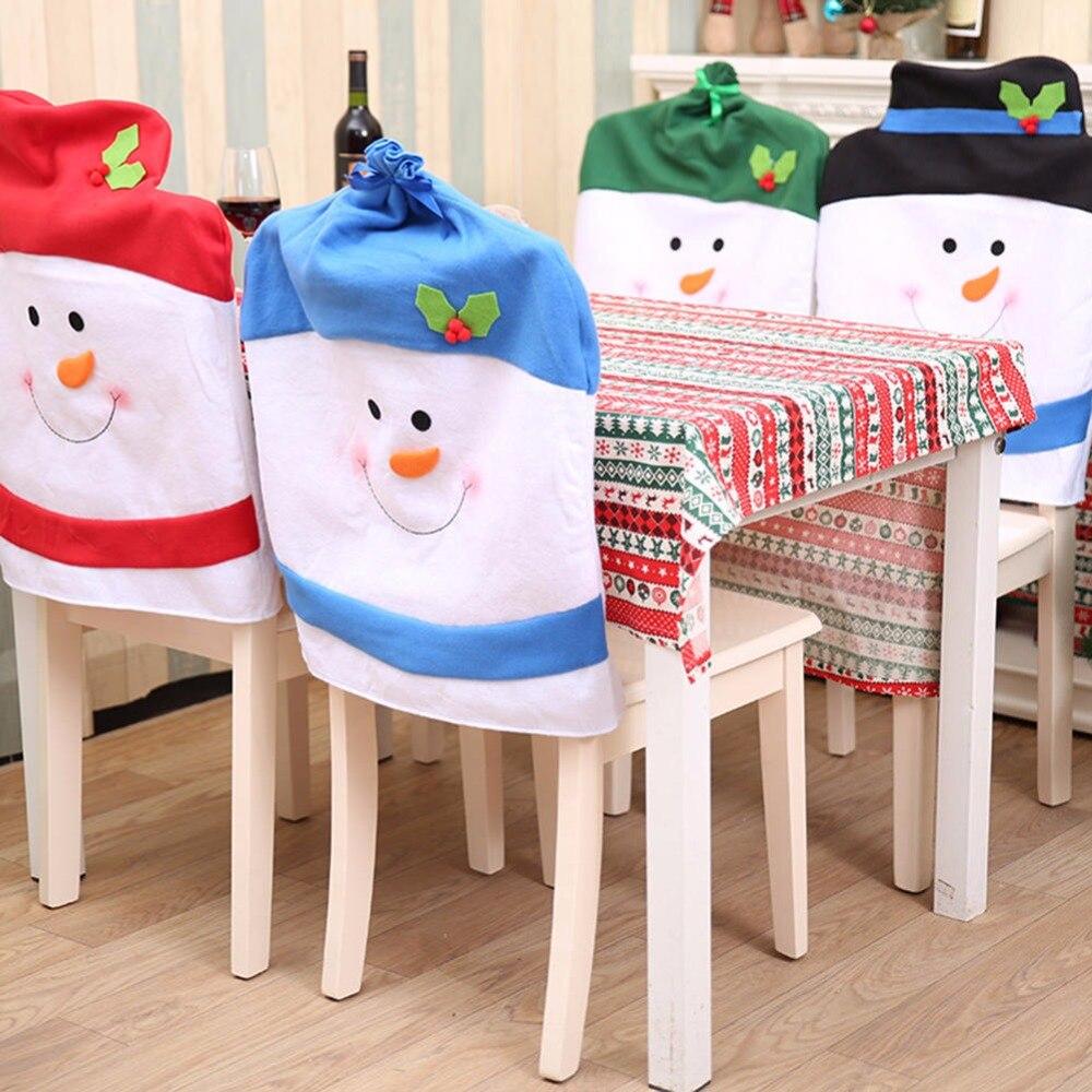 Christmas Chair Cover Santa Claus Xmas Dinner Table Chair