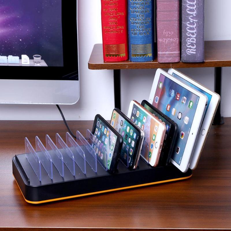 ALLOYSEED 15 Порты USB Зарядное устройство с подставкой Multi-Порты и разъёмы Desktop Зарядное устройство s станции для телефона iPhone Tablet USB быстро зарядно...
