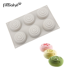 FILBAKE Silicone 6 Hole Cake Mold Decorating Tools For DIY Chocolate Mousse Desserts Pastry Moulds Baking Accessories