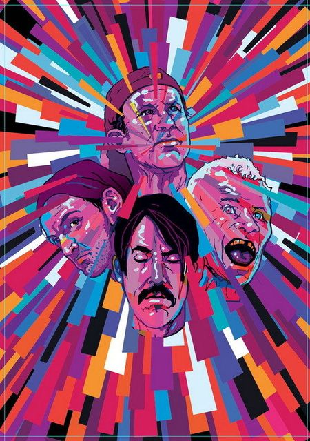158 Red Hot Chili Peppers Rhcp American Rock Band Music 14 X20