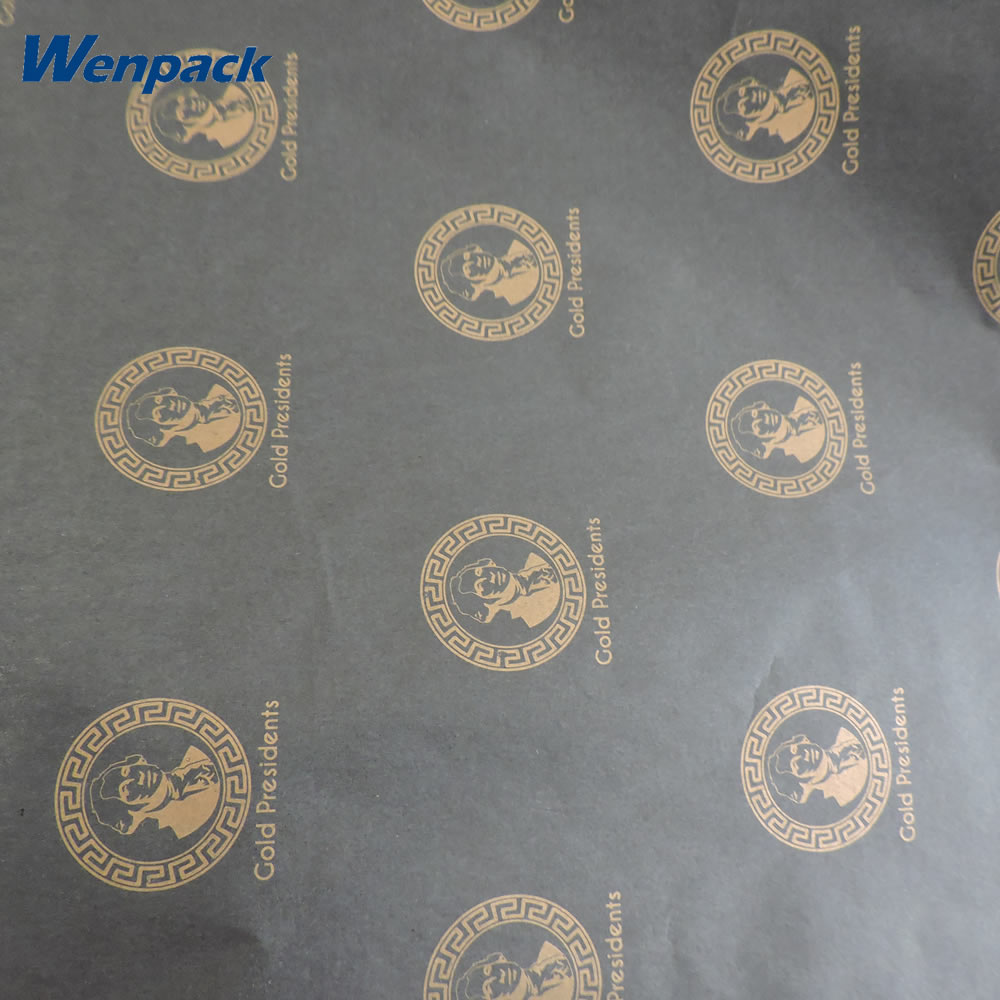 custom printed logo gift wrapping tissue paper with packaging