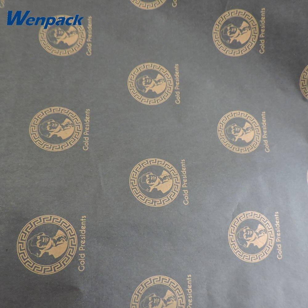 Niestandardowe nadrukowane logo prezent bibuła pakowa papierowa z opakowaniem w Papier do rękodzieła od Dom i ogród na  Grupa 1