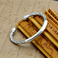 Smooth kneading rattan fashion screw Bangle 100% S999 sterling silver Bracelet Bangle for men or women fine jewelry 2016 GB12
