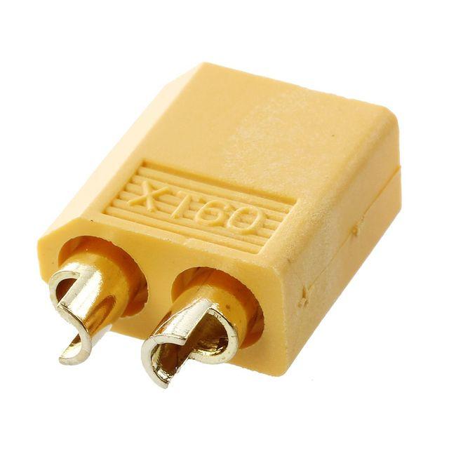 New 5 pairs yellow nylon XT60 T- plug  Lipoic power socket RC Gold plug adapter