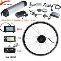 36V 500W Electric bike Conversion kit Samsung battery 36V 12AH 20''24''26''700c Front motor wheel Ebike elektrikli bisiklet