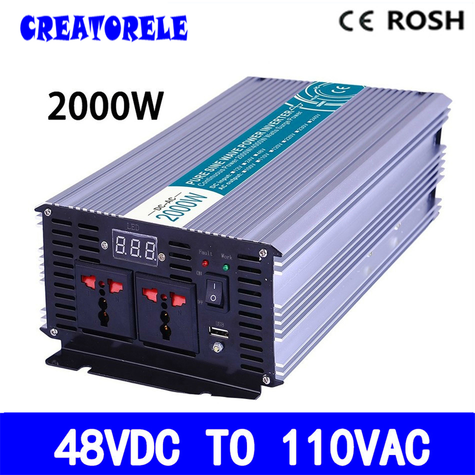 P2000-481 micro power iverter 2000w pure sine wave 48vdc 110vac off grid voItage converter,soIar iverter IED DispIay p800 481 c pure sine wave 800w soiar iverter off grid ied dispiay iverter dc48v to 110vac with charge and ups