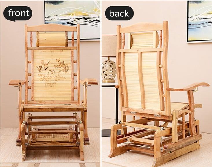 Mecedora moderna bambú Muebles exterior/interior Rocker respaldo ...