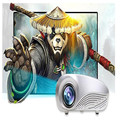 HL Mini Home Cinema Multimedia LED Proyector HD Soporte TV AV VGA HDMI USB SD de Mayo de 24
