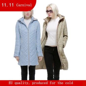 DHfinery на осень-зиму женские пальто Длинная Верхняя одежда с капюшоном Большие размеры 48-58 для Европы Россия синий, хаки и бежевый пальто