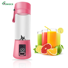 цена на 380ml Portable Eletric Rechargeable Mixer Fruit Mixing Machine Usb Juicer Cup Blender With Charger Cable