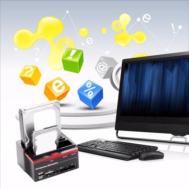Professional 2.5 Inch 3.5 Inch SATA IDE HDD Docking Station Base Hard Disk Drive Clone USB HUB Card 892U2IS