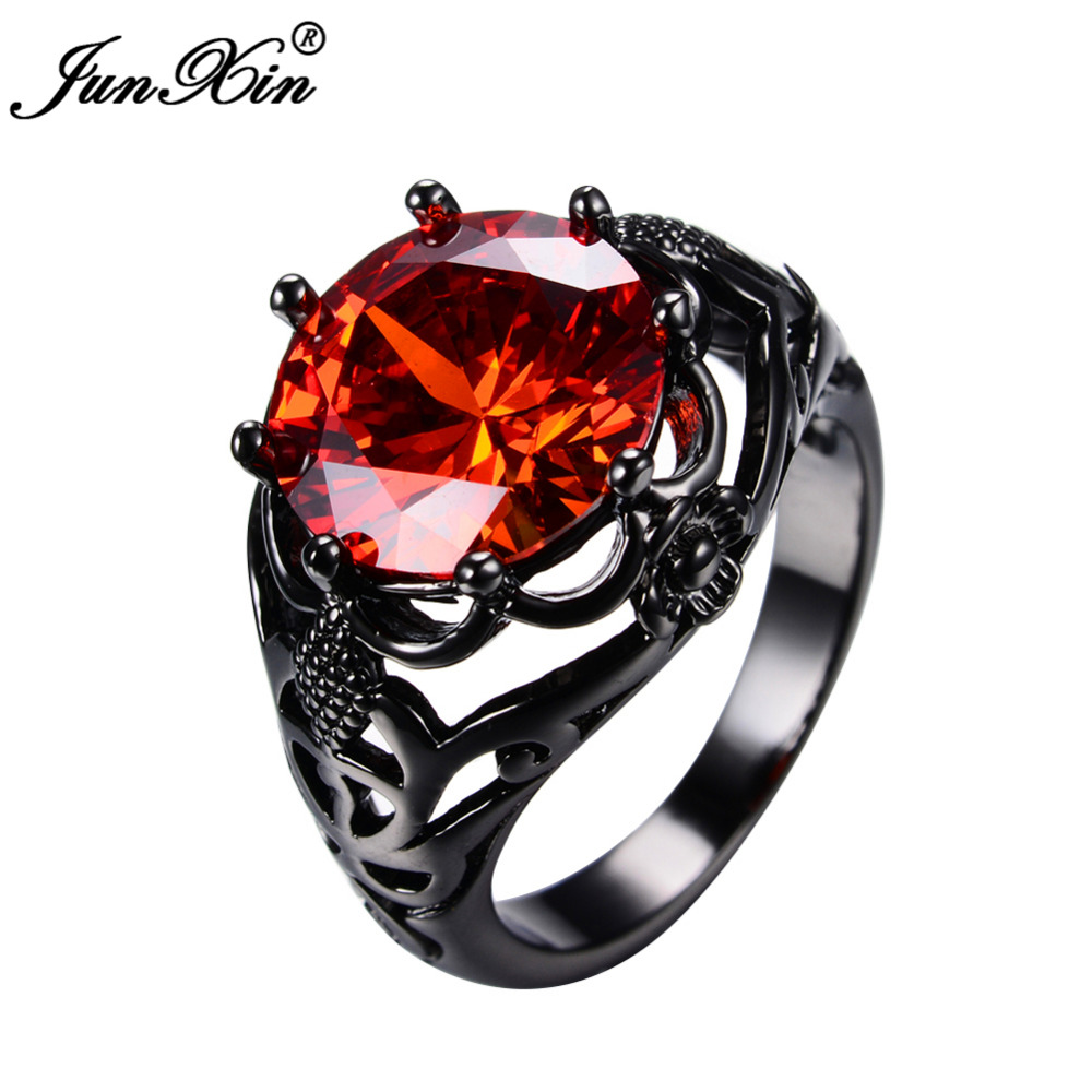 Buy Red Ring Fashion Black Gold Ring Vintage Wedding Rings For Men And Women Jewelry at negamy.com! Free shipping to 185 countries. 45 days money back guarantee