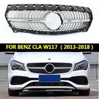 Diamond grille suitable for Mercedes Benz CLA class W117 CLA 180 CLA200 CLA250 CLA45 2013 2016 2018 Without emblem