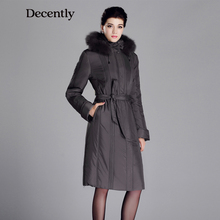 DECENTLY 2015 Winter New Parka women Cotton Sintepon Fox Fur Woman Coat women Plus size Down jacket  12C1703