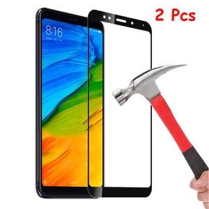 Image 1 - 2PCS Hardness Protective Glass For Xiaomi Redmi 5 Plus / Redmi Note 5 Pro Screen Protector Tempered Glass Redmi Note7 Note 8 Pro
