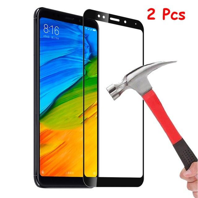 2PCS Hardness Protective Glass For Xiaomi Redmi 5 Plus / Redmi Note 5 Pro Screen Protector Tempered Glass Redmi Note7 Note 8 Pro