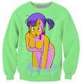 Bulma suam camisola jumper vibrante Dragon Ball Z personagens dos desenhos animados mulheres homens roupas Hoodies preto / verde plus size S-3XL