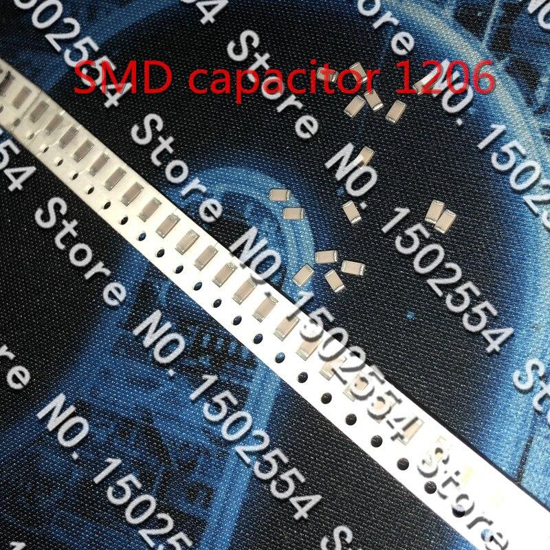 50PCS/LOT SMD Ceramic Capacitor 1206 100PF 1KV 1000V 50V 500V NPO C0G 5% High Voltage Capacitor