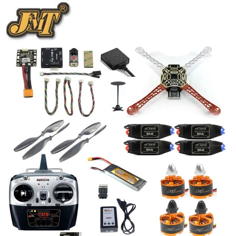 Jmt F450 Mini Rc Hexacopter Unassemble Kits 2.4G 8CH Diy Drone Fpv Upgrade Met Radiolink Mini Pix M8N Gps hoogte Hold Model