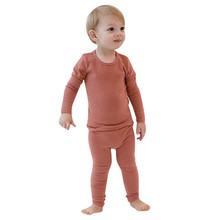Newborn Infant Baby Clothes Set Toddler Baby Boys Girls Long Sleeve Solid Tops+Pants Pajamas Sleepwear Outfit baby clothes