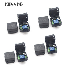 4pcs/set DC 12V 1Gang Remote Relay Module Wireless Electronic Door Relay Switch RF 433MHz Remote Garage Poower Control Drop ship