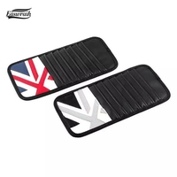 Genuine Leather Multi Function Automobile Accessories Car Sunshade Visor Cover CD Holder Bag For BMW MINI