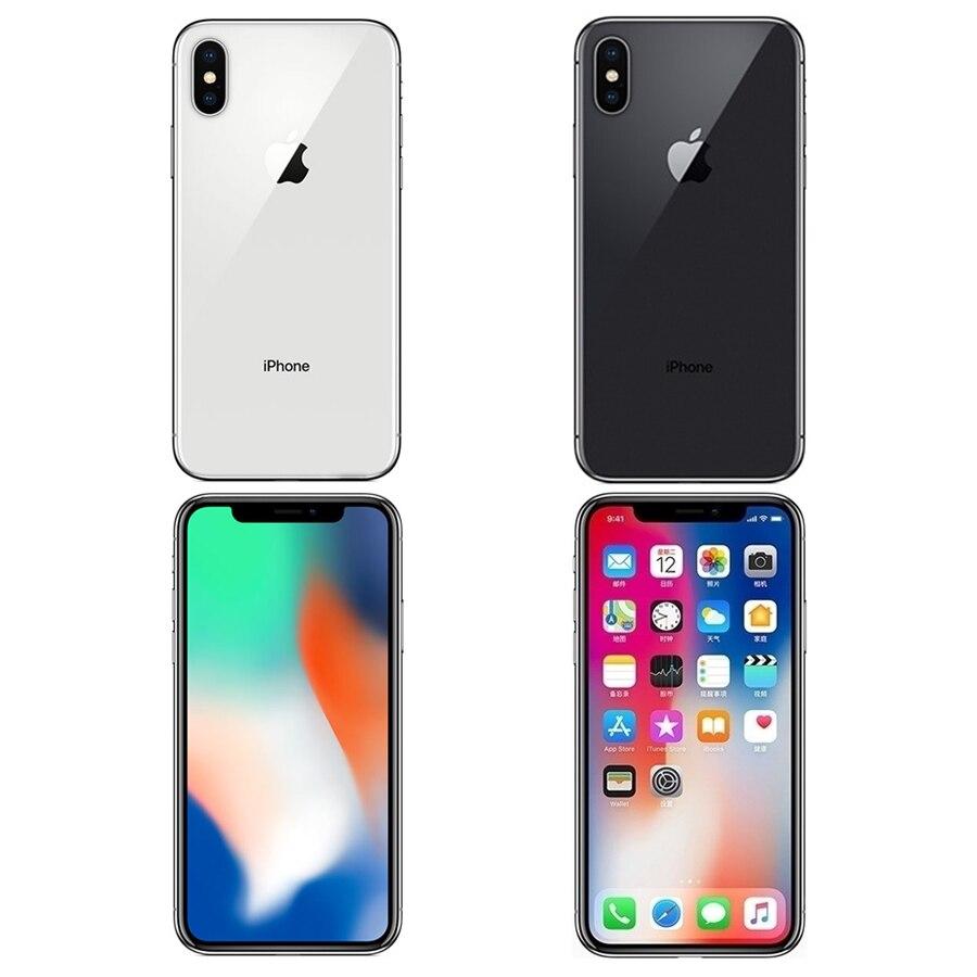 """Original apple iphone x 3gb ram 64gb 256gb rom 5.8 """"ios hexa núcleo 12.0mp câmera traseira dupla desbloqueado 4g lte telefone móvel 3"""