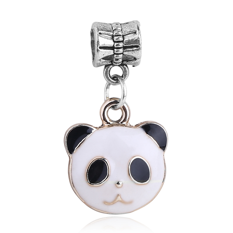Original european style necklaces & pendants bracelet dangle panda charm beads fits pandora charm bracelets & bangles