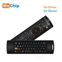 2017 Deluxe Mele F10 Fly Air Mouse 2.4 GHz Wireless Keyboard Controle remoto para Jogos Android TV Box Notebook Mini teclado