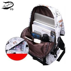 Image 4 - FengDong backpacks for children school bags for teenage girls feathers print schoolbag backpack child bag kids laptop backpack