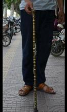 decoration brass factory Pure Brass Antique 36″ Chinese brass Sheep Goat Fu Statue Lucky Crutches Walking stick Wand cane