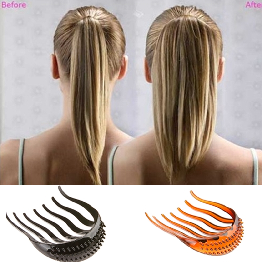 Lady Girl Tools Volume Inserts Hair Clip Hairpins Bouffant Ponytail Comb Grips Headwear Ornaments Accessories For Woman