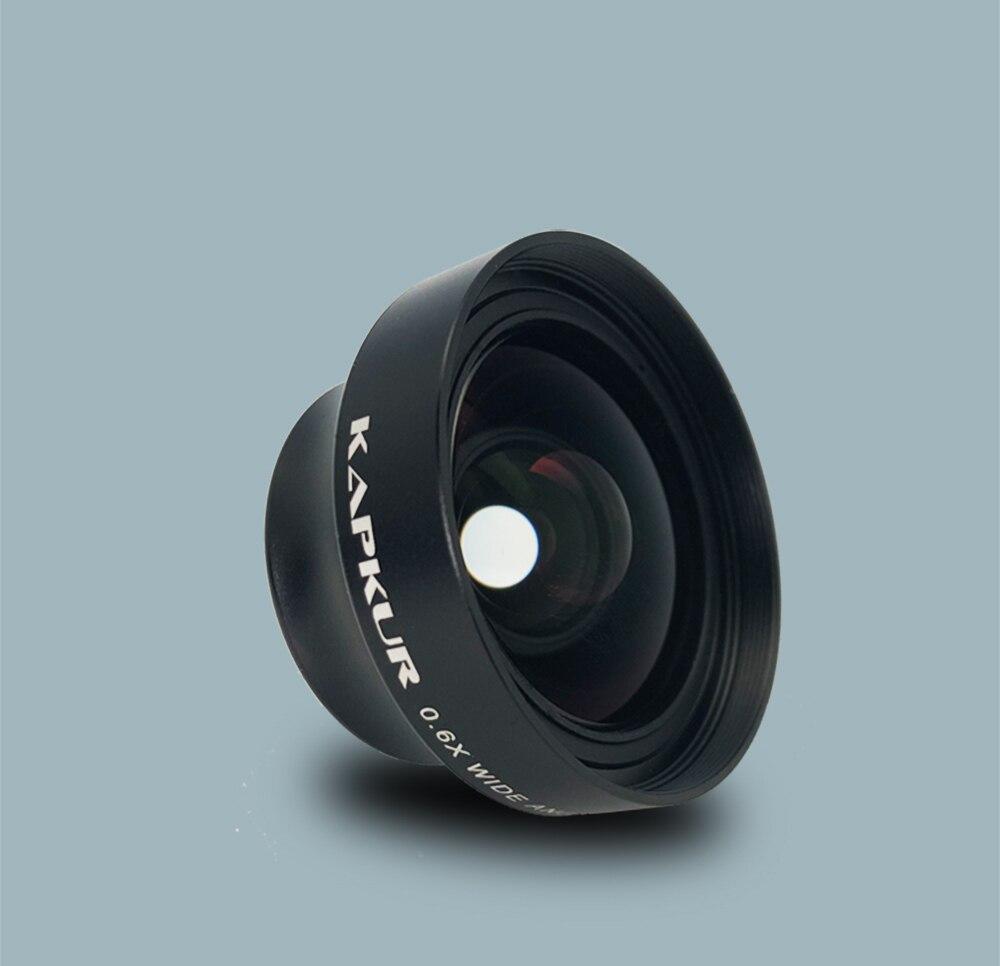 Kapkur phone lens ,  clip-on 0.6X wide angle lens, HD 4K wide angle length , screw mount