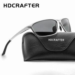 Image 5 - HDCRAFTER الألومنيوم المغنيسيوم نظارات الرجال الاستقطاب القيادة نظارات الشمس الرجال oculos الذكور نظارات اكسسوارات