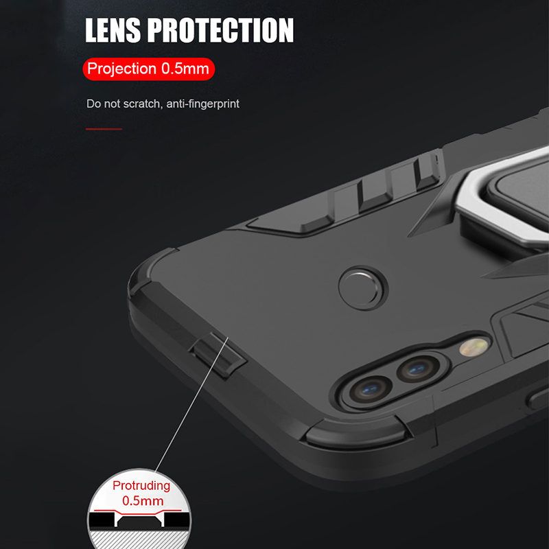 Image 5 - Armor Ring Case For xiaomi redmi 7 case Magnetic Car Hold Shockproof Protective Soft Bumper Phone Cover For xiaomi redmi 7 Case-in Fitted Cases from Cellphones & Telecommunications
