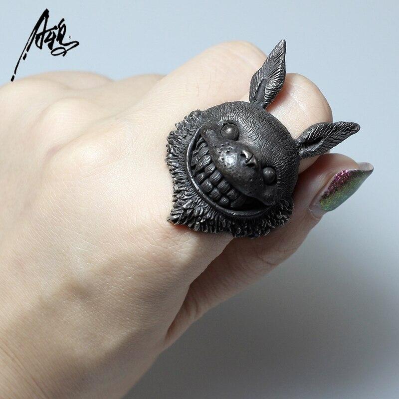 Personnaliser Animal Tonari pas de Totoro anneau Hayao Miyazaki Anime 925 bijoux en argent pour les filles petite amie cadeau de noël Unique - 4