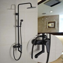 Oil Rubbed Bronze Single Handle 3 Ways Mixer Valve Shower Set Faucet Wall Mount 8 Rainfall