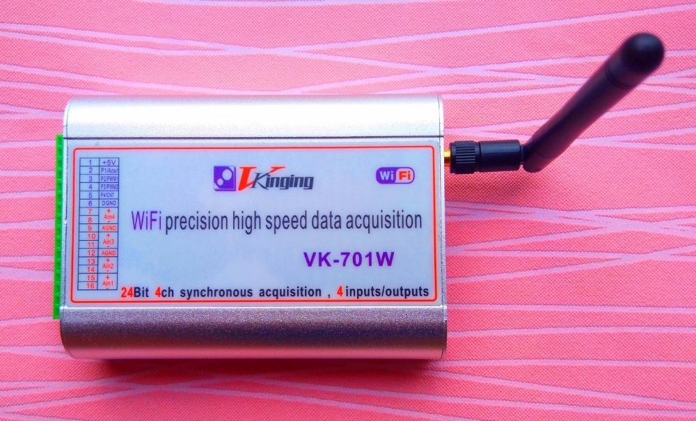 VK701W four channel wireless data acquisition card WIFI type maximum 400K sampling rate micro volt level