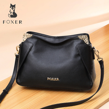 FOXER Brand Women Fashionable Style Crossbody bag Genuine leather Shoulder bags Female Chic Messenger Bag for Lady foxer brand 2018 women s leather bag fashion crossbody bags for women chain bags girl shoulder bag gift for valentine s day