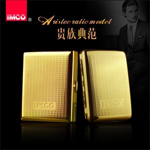 Image 2 - IMCO Luxury Cigarette Case Cigar Box Genuine Pure Copper Tobacco Holder Pocket Storage Container Smoking Cigarette Accessories