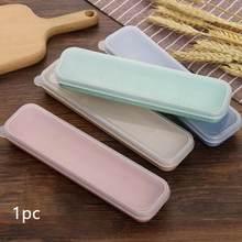 Cubierta transparente reutilizable para exteriores, práctico diseño de ranura de paja de trigo, juego de caja de servicio de mesa para escuela con bolsa de almacenamiento de viaje