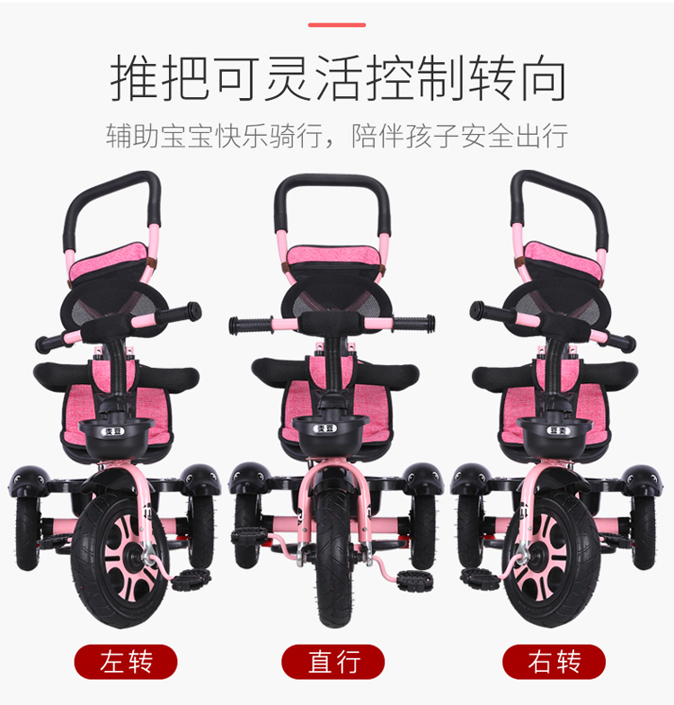 Cleaning Cart Bike Old-Fashioned Car BBG Multifunctional Portable Folding Shopping Trolleys with Wheels,Six-Wheeled Aluminum Alloy Car for The Elderly